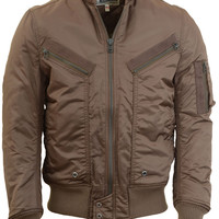 Flight Satin Aviator Jacket 91321