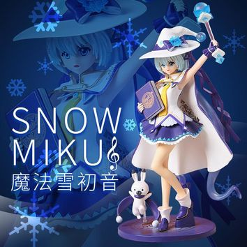 NEW hot 27cm Hatsune Miku Snow Miku Action figure toys collection doll Christmas gift with box