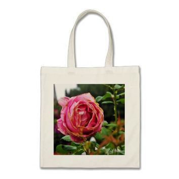 Pink Wilted Rose Tote Bag