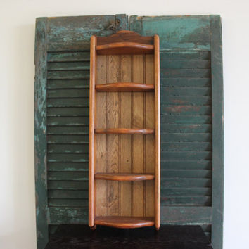Rustic wood shelf display, knick knack shelf, spice rack, storage, country chic decor, wood decor, shelving