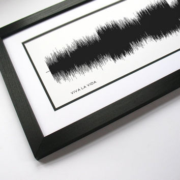 "Coldplay - ""Viva La Viva"" - Music Art Sound wave Print - Song Lyric Art, Band Poster"