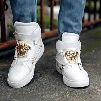 One-nice™ Versace Women Men High Help Sneakers Fashion Trending Running Sports Shoes White