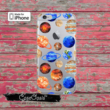 Planet Pattern Space Solar System Earth Mars Clear Case iPhone 6 Plus iPhone 6s iPhone 6s Plus iPhone 5 iPhone 5c iPhone SE iPhone 7 + Case