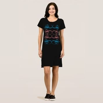 """Abstract Symbols"" Women's Apparel T-Shirt Dress"