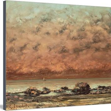 The Black Rocks at Trouville, 1865- 66 Giclee Print by Gustave Courbet at Art.com