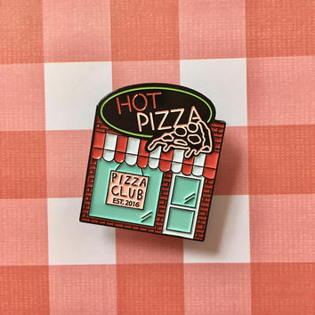 Pizzeria enamel pin for Pin Street