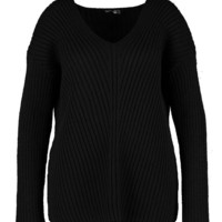 Plus Slouchy V Neck Jumper | Boohoo