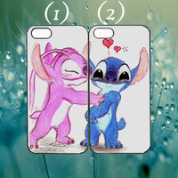 Stitch and Angel kiss couple case custom case for iphone 4/4s,5/5s,5c,6,ipod 4,5,samsung Htc M8