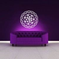 Mandala Wall Decal Vinyl Sticker Decals Lotus Flower Yoga Namaste Indian Ornament Moroccan Pattern Om Home Decor Bedroom Art Design Interior NS45