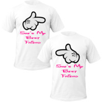 she's my best friend Couple Tshirts