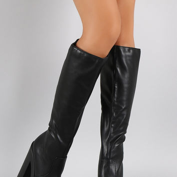 Speed Limit 98 Chunky Lug Sole Platform Heeled Boots
