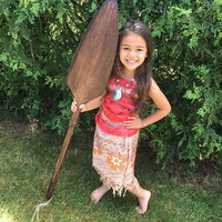 Moana-Inspired Cosplay Paddle/Oar Solid Wood hand carved
