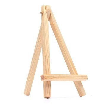 "5PCS Mini Wood Artist Easel Rustic Wedding Table Number Display - 6.3"" x 3.54"""