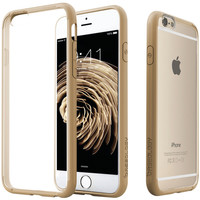 Caseology Iphone 6 And 6s Clear Back Bumper Case (gold)