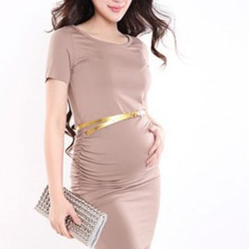 Rinched Casual & Professional Maternity Dress