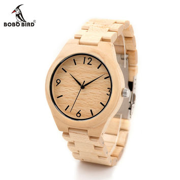 Christmas Season Gift Design for Anniversary Edition Christmas Series of Wooden Watches Wood Quartz Watch