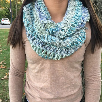 Crochet Double Loop Infinity Scarf