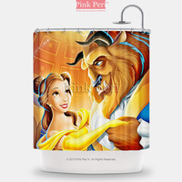Beauty and the Beast Dancing Disney Shower Curtain Free shipping Home 078