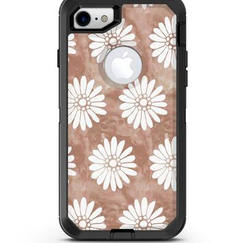 Brown Watercolor Flowers - iPhone 7 or 8 OtterBox Case & Skin Kits