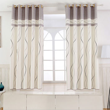 1 panel Short curtains Window decoration Modern Kitchen Drapes Striped pattern C