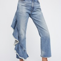 Free People Estella Side Ruffle Jean