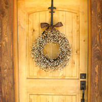 Fall Wreath-Fall Decor-Primitive Decor-RUSTIC BROWN Door Wreath-Star Door Wreath-Primitive Country-Rustic Home Decor-Choose Scent and Ribbon