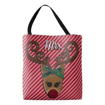Mrs. Rudolph ALL OVER PRINT TOTE