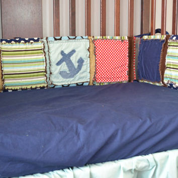 Custom Navy Blue Fitted Crib Sheet for Toddler Bed or Baby Crib in Cotton Fabric, Made to Order
