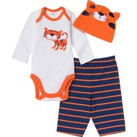 Gerber Baby Newborn Boy 3-Piece Tiger Bodysuit, Pant and Cap Set - Walmart.com