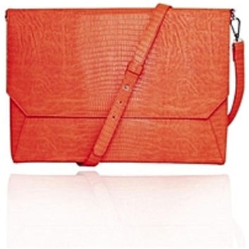 Francine Collection Lenox Carrying Case (Sleeve) for 11 Tablet - eReader, Notebook - Orange - Faux Leather