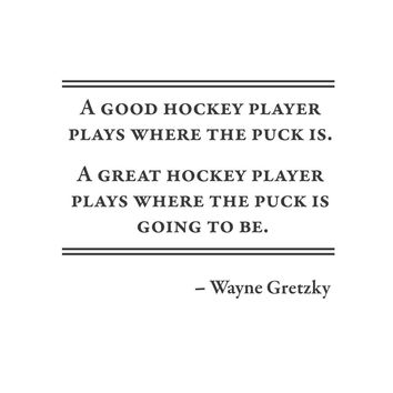 wall quotes wall decals - Wayne Gretzky Hockey