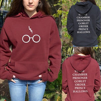 Harry Potter Hoddie Hoody Glasses Hogwarts Alumni BOOK Titles Sweater Sweatshirt [8323329281]