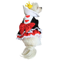 Alice in Wonderland's Queen of Hearts Halloween Dog Costume at BaxterBoo