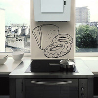 Kitchen cafe bread rooty donuts doughnut Stylish Wall Art Sticker Decal 8575
