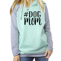 Dog Mom Printed Women Hoodie Sweatshirt
