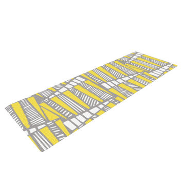 "Gill Eggleston ""Jaggi Yellow Grey"" Yoga Mat"