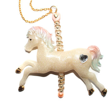 Pastel Magical Pony Necklace Pendant