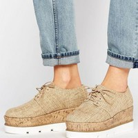 ASOS OLYMPIC Lace Up Flatforms