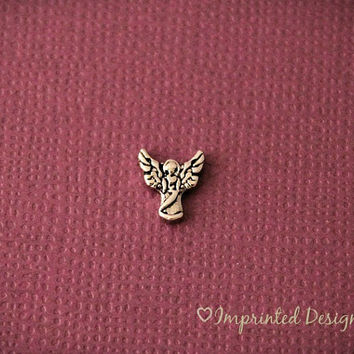 Angel Floating Charm / Angel Locket Charm / Christmas Floating Charm