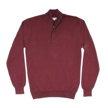 The Hayward 1/4 Zip in Wine by Southern Point Co.