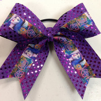 1 Purple Katy Perry Sparkle Cheer Dance Bow Ribbon