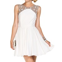 Sale-fitzgerald White Prom Dress