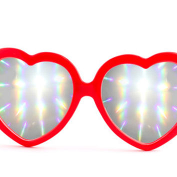 The Heartz - Red by Eye Love Shadez   Eye Love Shadez Rave and Diffraction Glasses