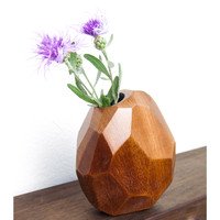 Faceted Bud Vase - Sapele