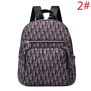 Givenchy & Fendi & Champion & Dior & Versace & Burberry  Fashion New More Letter Pattern Print Women Men Backpack Bag