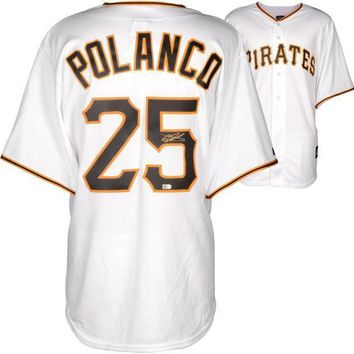 ESBONY Gregory Polanco Signed Autographed Pittsburgh Pirates Baseball Jersey (MLB COA)