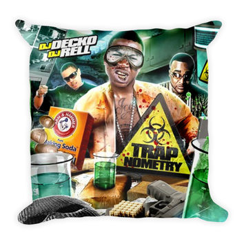 Trapnometry (16x16) All Over Print/Dye Sublimation Gucci Mane Couch Throw Pillow Insert & Pillow Case/Cover