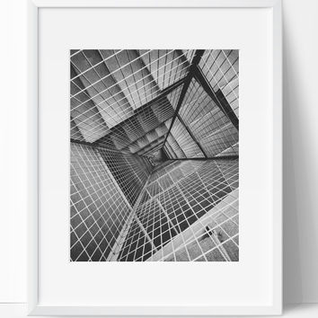 Stairway wall art photography black and white modern art prints