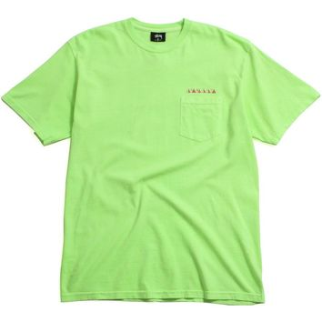 Psycho Tropics Pigment Dyed Pocket T-Shirt Green