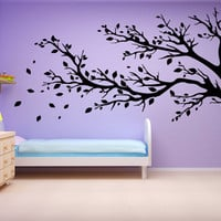 Tree Wall Decal Leaves Wall Sticker Modern Home Decor Nature Floral Sticker Decal Vinyl